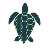 Icon of a great turtle. Vector  image. Vintage and modern style. Stock Images