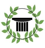 Icon with greek symbols Royalty Free Stock Image