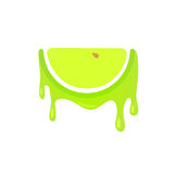 Icon of Green Apple Royalty Free Stock Photos