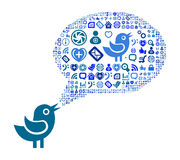 Icon group as speech bubble cloud Royalty Free Stock Photo