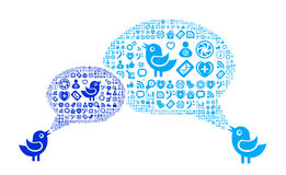 Icon group as speech bubble cloud Royalty Free Stock Image