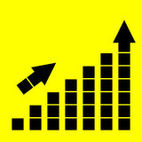 Icon growth chart Stock Images