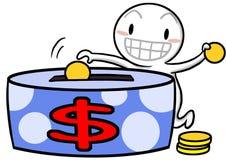 Icon Gugu saving money Stock Image