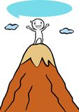 Icon Gugu on the top mountain. Icon Gugu standing on top of the mountain vector illustration
