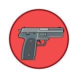 Icon gun protection weapon Stock Photo