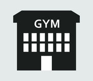 Icon gym building illustrated Royalty Free Stock Photos
