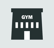Icon gym building illustrated Stock Photo