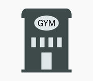 Icon gym building illustrated Royalty Free Stock Image