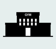 Icon gym building illustrated Royalty Free Stock Photography