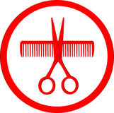 Icon of hair salon Stock Photos
