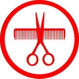 Icon of hair salon stock photos