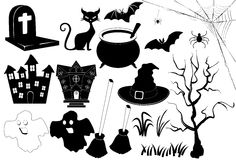 Icon halloween BW Royalty Free Stock Photography