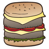 Icon hamburger Royalty Free Stock Photo