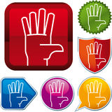 Icon hand Royalty Free Stock Photo