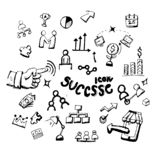 Icon. Hand drawn. success themed doodle. Vector flat illustration. on white background.  stock illustration