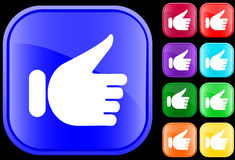 Icon of hand gesture. Hand gesture of approval on buttons Royalty Free Illustration