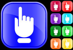 Icon of hand gesture. Icon of a hand with finger pointing/selecting Stock Illustration