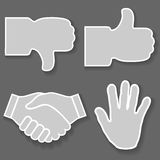 Icon hand Stock Photo