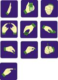Icon from hands Royalty Free Stock Images