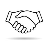Icon handshake Royalty Free Stock Photo