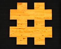 Icon hashtag for a webdesigner. Royalty Free Stock Image