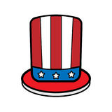 Icon hat amerika Royalty Free Stock Photography