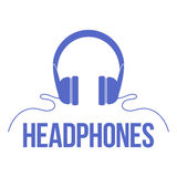 Icon headphones. Vector  image. Royalty Free Stock Photo