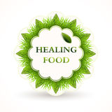 Icon for healing food. Stock Photos