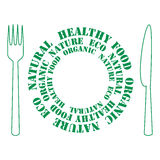 Icon of healthy food Stock Photos