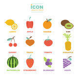 Icon healthy fruit vector design Royalty Free Stock Photos