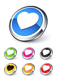 Icon heart Stock Photography