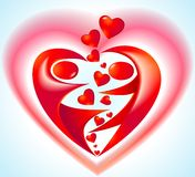 Icon with heart Stock Images