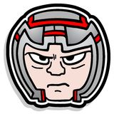 Icon helmet Stock Images