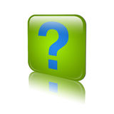 Icon of a help. Icon or button whitch discribe help or some question Stock Images