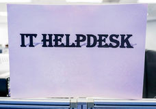 Icon IT helpdesk. Icon of IT helpdesk in the office Royalty Free Stock Photo