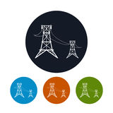 Icon high voltage power lines , vector Stock Photo