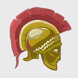Icon historical knights helmet in flat style Royalty Free Stock Images
