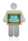 Icon holding a blood pressure sign. illustration Royalty Free Stock Image