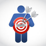 Icon holding a charisma target Royalty Free Stock Photography