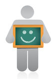 Icon holding a happy face illustration design Stock Photo