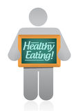 Icon holding a healthy eating wood presentation Stock Photography