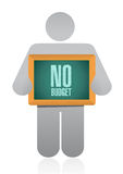 Icon holding a no budget sign illustration design Stock Photography