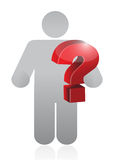 Icon holding a question mark sign. illustration Royalty Free Stock Photos