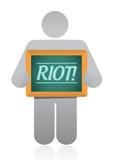 Icon holding a riot message illustration design Stock Photos