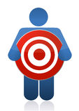 Icon holding a target sign. Illustration design Stock Photo