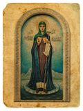 Icon of the Holy. Old postcard. Royalty Free Stock Images