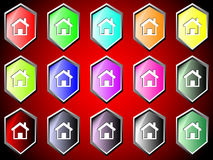 Icon with home Royalty Free Stock Images