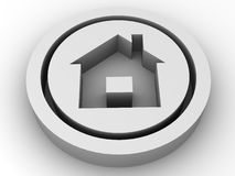 Icon home. 3d. Very beautiful three-dimensional illustration, figure Royalty Free Stock Image