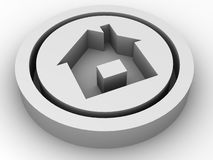 Icon home. Royalty Free Stock Image