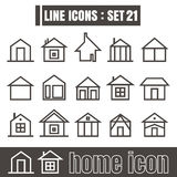 Icon home line black Modern Style vector on white background Stock Image